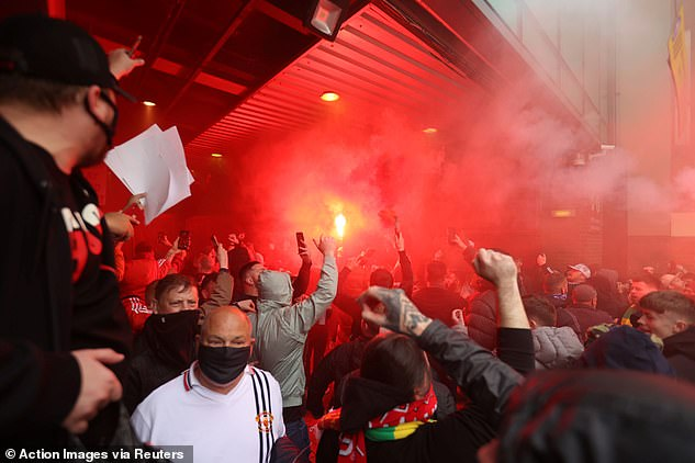 It comes after Sunday's protests against the Glazers caused Liverpool game to be called off