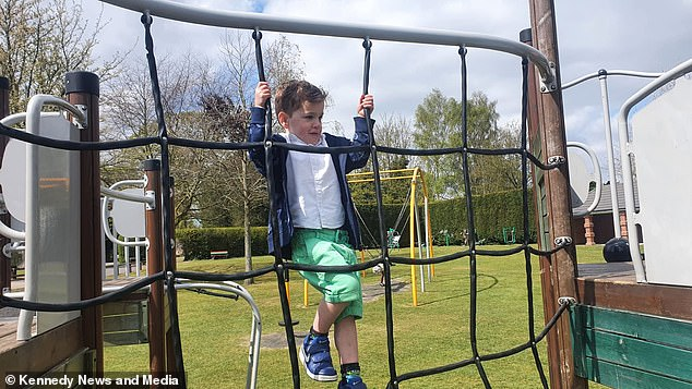 Stormy now lives completely as a boy - with his nursery recognising him as male, and all of his friends addressing him as a boy, say the family