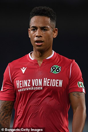 Aogo, pictured playing for Hannover, now works as a Sky Sport pundit in Germany