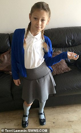 Terri Lammin from Ramsgate, Kent said that watching her daughter Ash (pictured) - born Ashton - grow up confused and uncomfortable in her own body was 'heartbreaking'