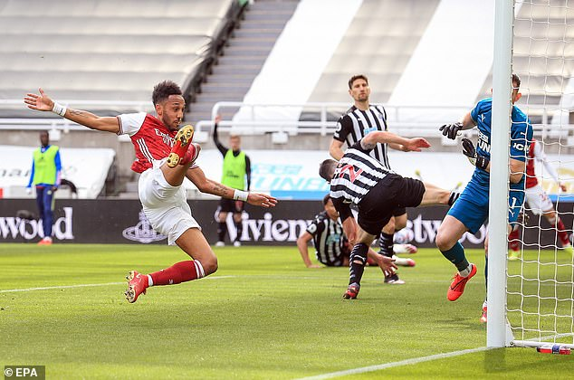 The striker returned to the starting line-up against Newcastle and got on the scoresheet