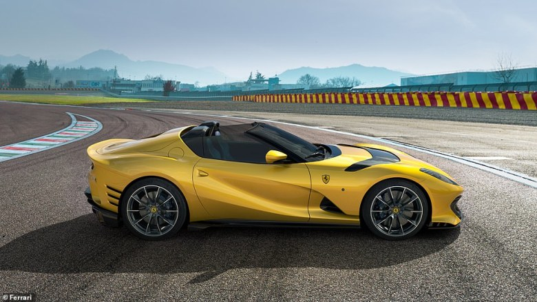 The Italian car-maker took the wraps of its new 812 Competizione ¿ in both hard-top coupe and a surprise Targa version ¿ with prices expected either side of half a million pounds each