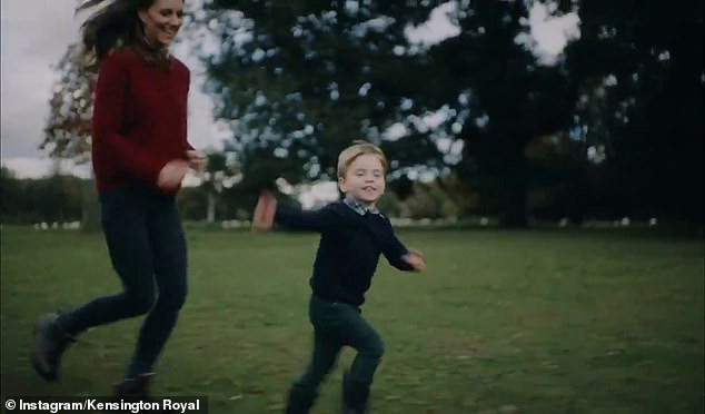 In the sweet video, Kate Middleton could be seen chasing Prince Louis around the garden of their Anmer Hall residence