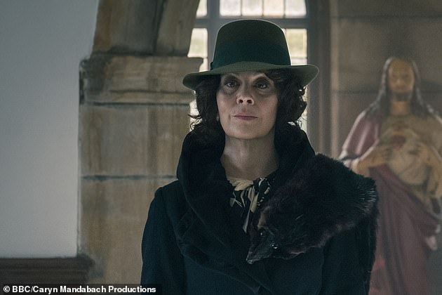 Iconic: The cast recently filmed for the first time since former co-star Helen McCrory(pictured in character as Aunt Polly) passed away from cancer aged 52