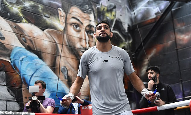 Khan (above) has not fought in two years but wants to take on Kell Brook in the coming months