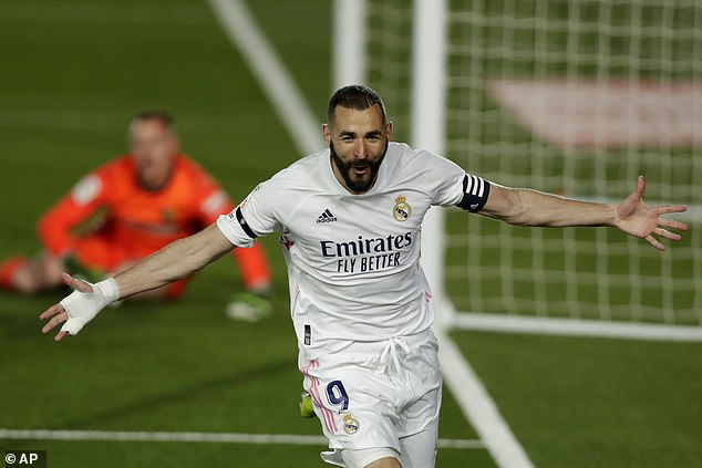 Benzema has been in top form for Madrid this season with 28 goals in all competitions so far