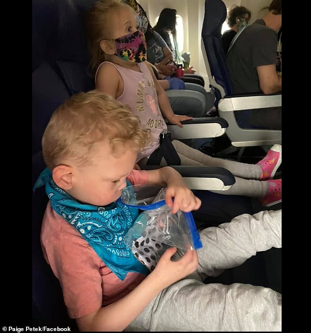 The Petek family was on their way from St. Louis to their home in Iowa when Southwest Airlines told them they had to de-board