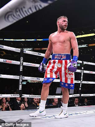 Saunders' WBO super-middleweight title is also up for garbs