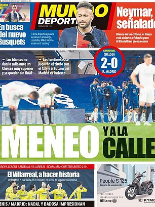 Mundo had them 'shaken and out on the street' following their disappointing Champions League defeat