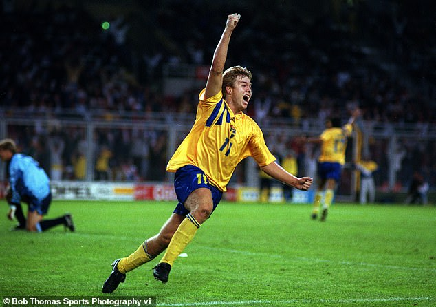 But a moment of magic from Thomas Brolin inflicted defeat on England to dump them out