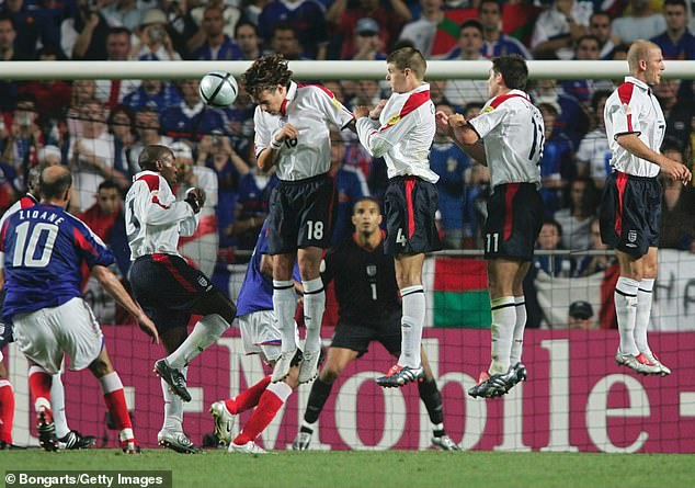 As the game entered stoppage time, Zinedine Zidane equalised for France with a free-kick