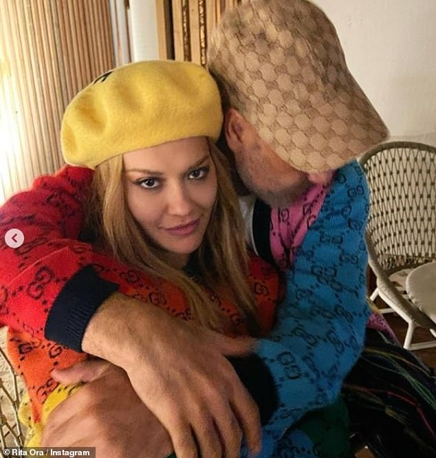 Loved up? The behind-the-scenes snaps comes after Rita and Thor director Taika Waititi, 45, sparked romance rumours in recent weeks