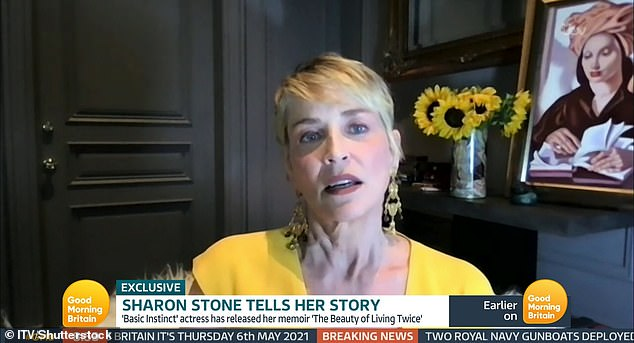 Telling her story:Sharon, who has since made a remarkable recovery, spoke on Thursday's episode of Good Morning Britain about the out of body experience she had while in hospital