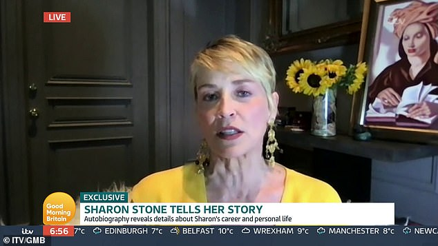 Candid:Sharon Stone has opened up about her near-death experience and recalled leaving her physical body and being able to communicate with the dead