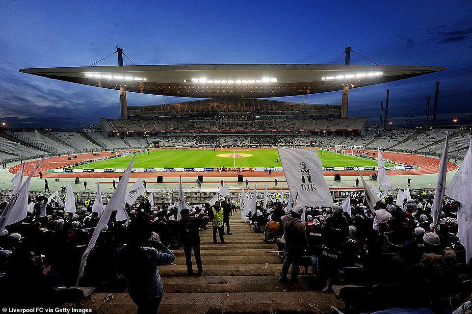 A total of 25,000 tickets - around a third of the Ataturk Stadium's (pictured) capacity - are expected to be made available, with 8,000 of these split between English fans of the two sides