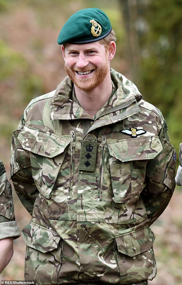 Prince Harry, Captain General Royal Marines, visits 42 Commando Royal Marines at their base in Bickleigh to carry out a Green Beret presentation at Dartmoor National Park Prince Harry visits 42 Commando Royal Marines, Bickleigh, Devon on 20 February 2019