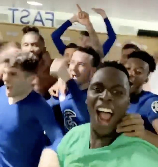 Mendy posted a video of wild scenes as the players danced and jumped around together having sealed a final against English rivals Manchester City on May 29 in Istanbul