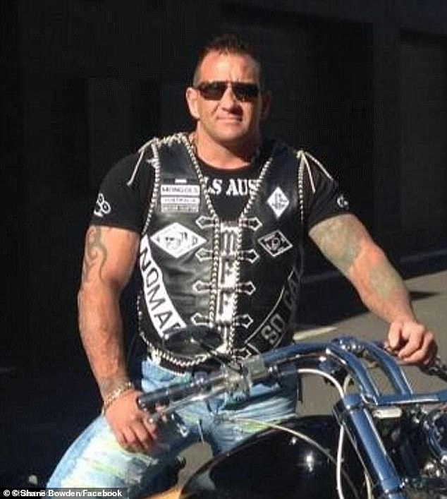 Shane Bowden (pictured) was shot dead several weeks after his son Kain was arrested over the unrelated death of man in Adelaide