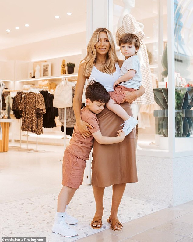 'I'm lucky to have Henne [her fashion line] and the boys to keep me busy, says the mother of sons Aston, five, and Henley, two.