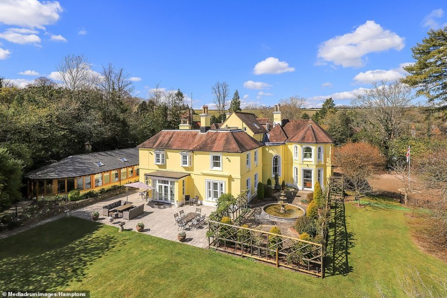 At the end of the garden there is a lower terrace with a tennis court, courtyard area, fountain, vegetable garden and greenhouse. There is an additional water meadow spanning across 8.7 acres beyond the stunning gardens
