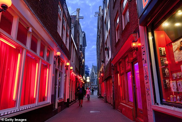 Amsterdam is preparing to build a five-storey 'erotic centre' as part of plans to relocate the famed red light district and attract 'better quality' tourists (stock image)