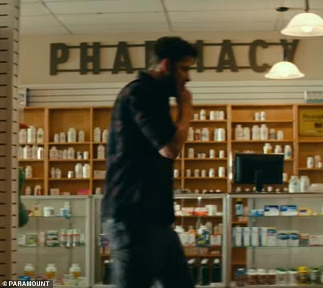 Here it is: With Kraskinski's character, 41-year-old Lee Abbott, having perished in the first film, it was truly surprising to see him open the trailer as he walked into a drugstore.