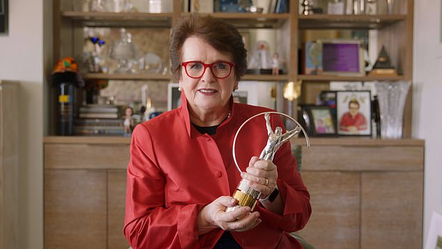 Tennis legend and gender equality advocate Billie Jean King won Lifetime Achievement Award