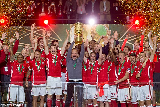 Lahm and Guardiola spent three years together at Bayern Munich and won seven trophies