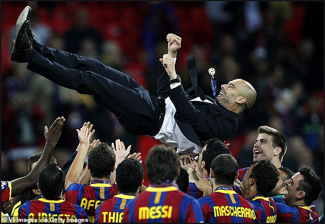 Guardiola made a name for himself at Barcelona where he won two Champions League titles