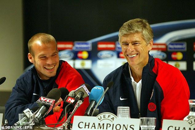 Freddie Ljungberg (left) claims Arsenal fans treated Arsene Wenger (right) too harshly