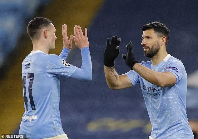 Manchester City midfielder Foden (left) starred in his team's European semi-final win vs PSG