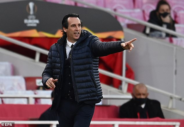 Emery watched Villarreal squeeze past Arsenal in their Europa League semi-final second leg
