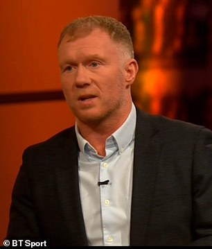 Paul Scholes admitted he does not see any of United's other current strikers becoming centre forwards