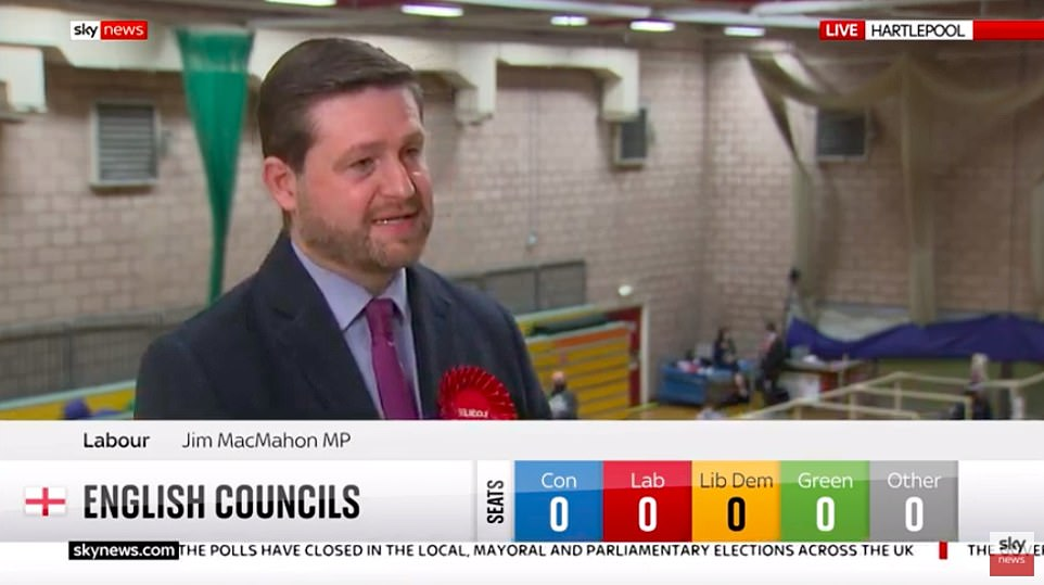 Jim McMahon, the shadow transport secretary, has conceded defeat in the Hartlepool by-election, with the Tories heading for a historic victory