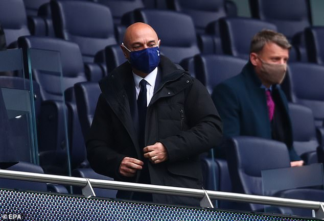 The Tottenham chairman is still searching for a new permanent manager for next season