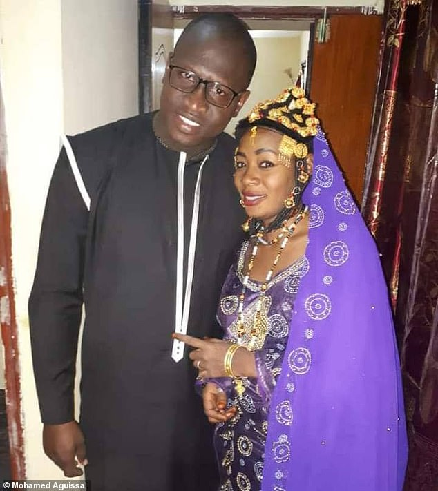 Halima Cisse (right) and husband Kader Arby (left) welcomed five girls and four boys on May 4 after a pregnancy that is thought to have been the result of fertility treatments