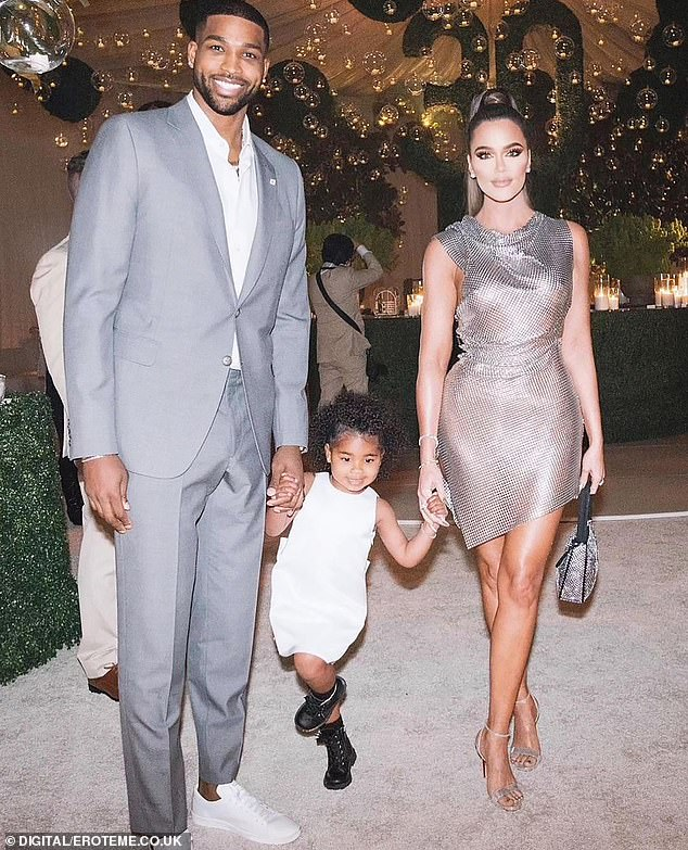 Family matters:Khloe shares her daughter with her sizzling on-again NBA boyfriend Tristan Thompson who now plays for the Boston Celtics