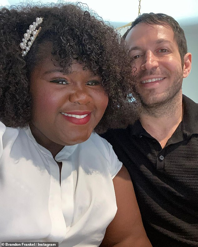 Official? Gabourey sparked marriage rumors recently as she and Brandon have been spotted out wearing wedding rings, months after announcing their engagement in November