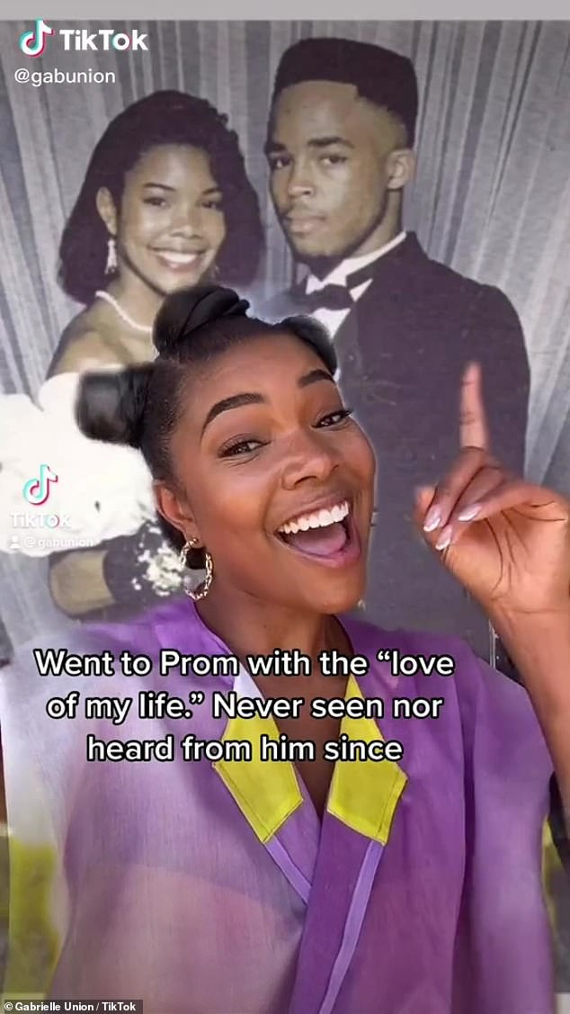 Throwback: Gabrielle Union looked back on one of the great loves of her past. The 48-year-old actress took to TikTok to reminisce about her high school prom date on Friday