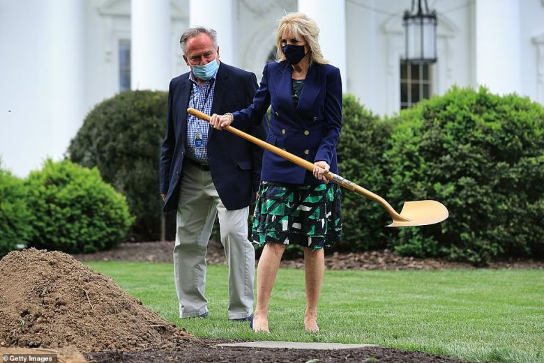 Jill Biden planted a tree on the North Lawn last week