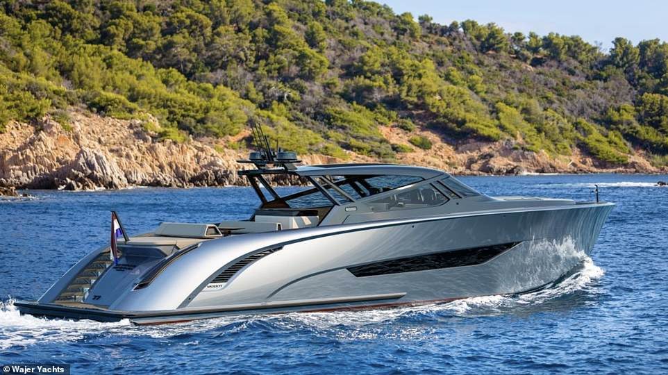 Impressive Ferry: The huge watercraft offers the best of luxury lifestyles, with maximum comfort provided by 'deck cooling, a hybrid fender system, an automatic roof and an electrically adjustable deck layout' ',