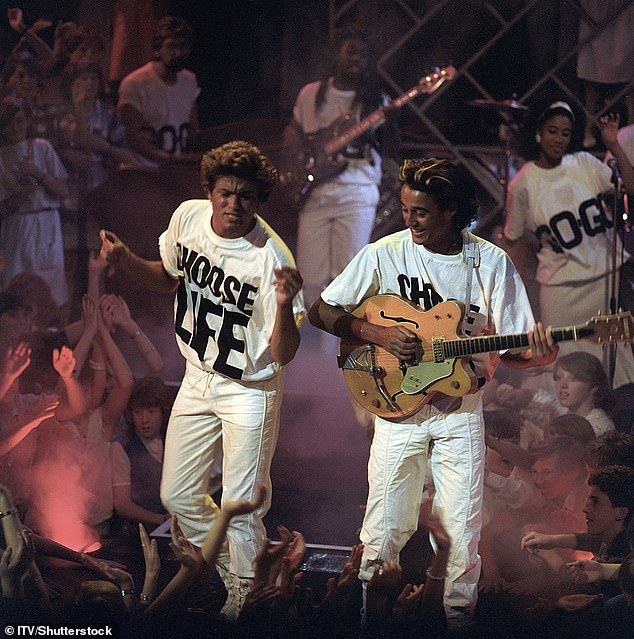 Choose Love: Wham's George Michael and Andrew Ridgeley performing in 1984