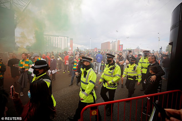The supporter says United fans were victims too despite ugly scenes at Old Trafford