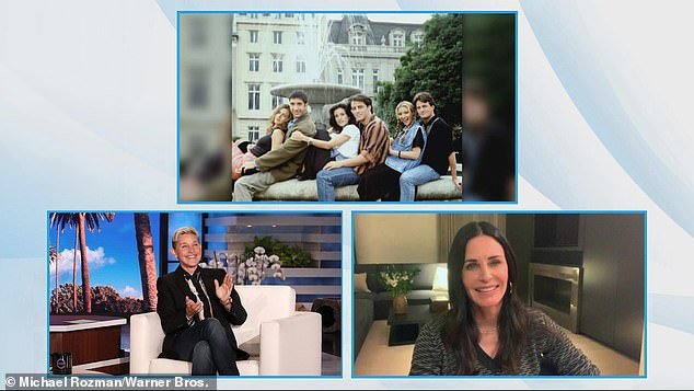 Loved it: She described the reunion with her former teammates as 'so amazing' and 'so moving' while speaking with the comedian and host practically from London