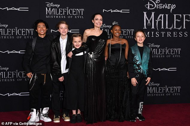 Priorities: The Maleficent star also told the publication she has stepped down from filmmaking so she can focus on her six children