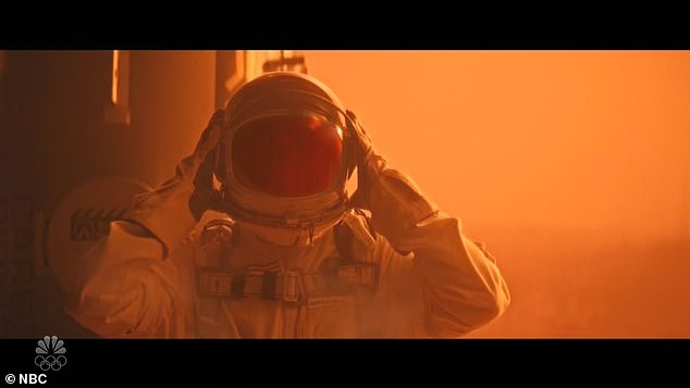 Oops: But when Elon tells him to give them a better look on his face, Chad absently begins to remove his helmet, causing it to explode and coating the inside of his helmet with bloody red jelly that is diffused across the Earth.