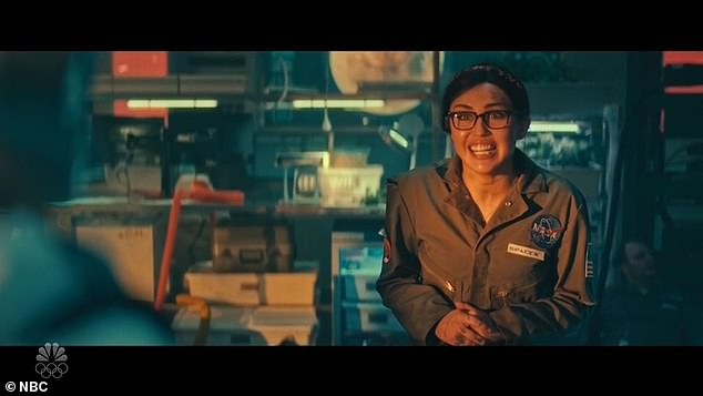 Miley, meanwhile, played a compassionate space station resident, who had a romantic connection to Chad and wanted to say goodbye.