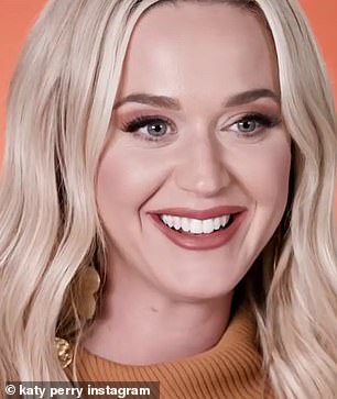 Let's talk: To celebrate the date, which took place in the US on May 9, Katy revealed that eight-month-old Daisy has already developed a taste for vegetables.