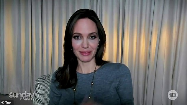 Fit: Angelina Jolie (pictured) was promoting her new movie, Those Who Wish Me Dead, on The Sunday Project in Australia this weekend