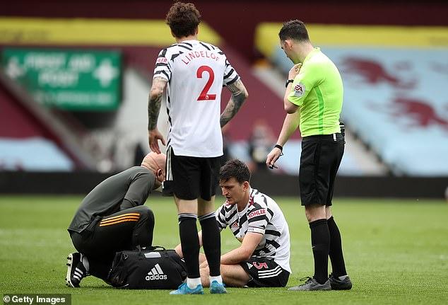 The Manchester United centre half was injured in a challenge with Villa winger Anwar El Ghazi